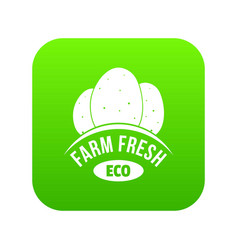 eco farm fresh icon green vector image