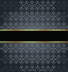Elegant seamless with golden fine decoration vector image