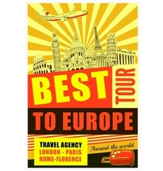 Europe Travel Poster vector