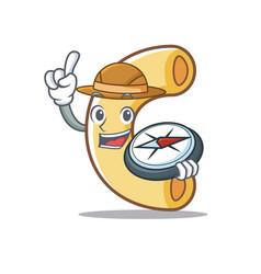 Explorer macaroni mascot cartoon style vector