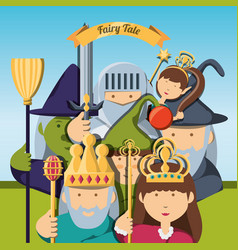 Fairytale concept design vector
