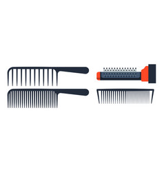 Fashion professional comb icon style hairdresser vector