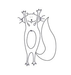Fat funny cat vector image