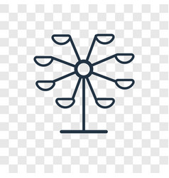 ferris wheel concept linear icon isolated on vector image