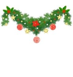 Fir Christmas garland vector image vector image