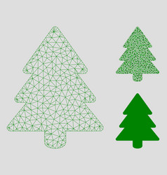 Fir-tree mesh wire frame model and triangle vector