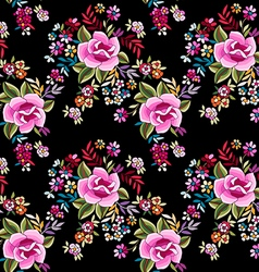 Flamenco print - seamless background vector image
