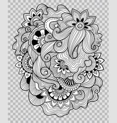 flower tattoo artwork on transparent background vector image