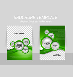 Green brochure vector image