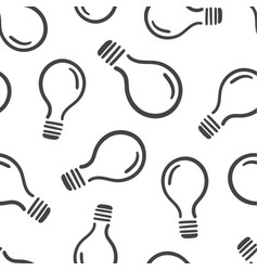 hand drawn light bulb seamless pattern background vector image