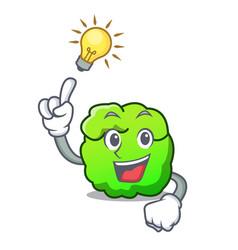 Have an idea shrub mascot cartoon style vector