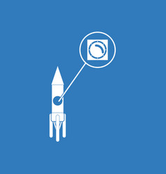 Icon rocket and porthole vector