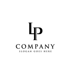initial letter logo l and p lp monogram logo icon vector image