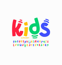 kids style playful font vector image
