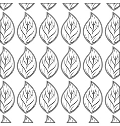 Leafs plant pattern icon vector