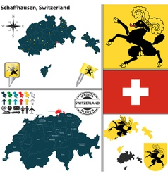 Map of Schaffhausen small vector image