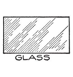 mechanical drawing cross hatching of glass vector image