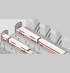 Metro station isometric vector