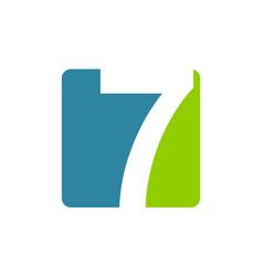 modern logo number 7 vector image