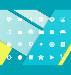 modern smartphone icons set different web icons vector image