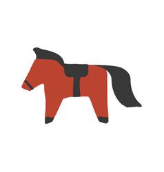 paper cut scandinavian horse vector image