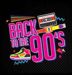 party time the 90s style label vector image