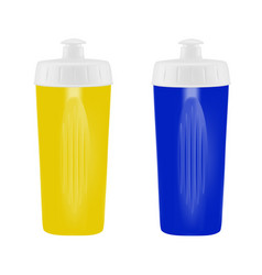 plastic shaker on white backgroundcocktail shaker vector image