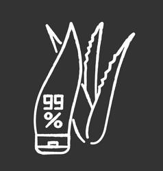 Pure organic cream chalk white icon on black vector