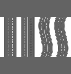roads and road bends top view vector image