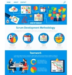 Scrum Agile Development Webpage Design vector