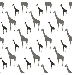 Seamless pattern with gray and black silhouette vector