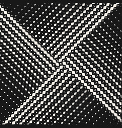 Seamless pattern with halftone triangle tiles vector