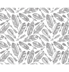seamless pattern with ornate tribal vector image