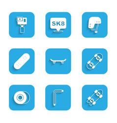 Set skateboard tool allen keys longboard vector