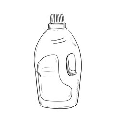 sketch of bottle vector image