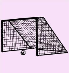 Soccer gate soccer ball gate vector