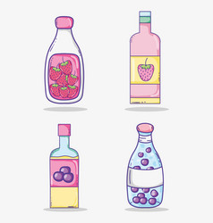 Summer juices collection vector