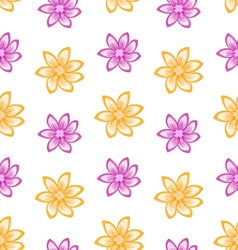 Summer Seamless Pattern with Colorful Flowers vector image