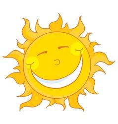 Sun smiling vector