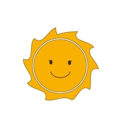 Sunny face sun abstract sunshine icon vector