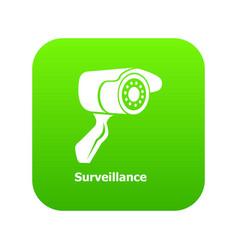 surveillance icon green vector image