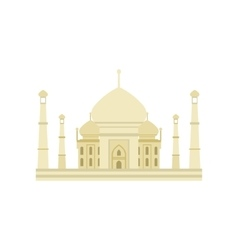 Taj Mahal Building In India vector