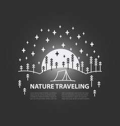 template for outdoor recreation vector image