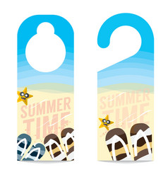 The Beach Summer Vacation Concept Door Hanger vector