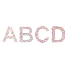 Varicolored letters A-D vector image