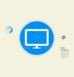 web project in circle vector image
