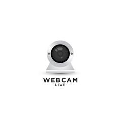 webcam graphic design template vector image
