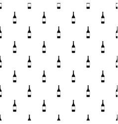 Wine bottle pattern vector
