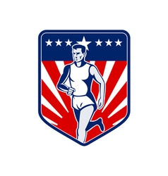 American Marathon runner stars and stripes vector image vector image