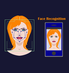 face recognition biometric security system with a vector image vector image